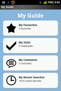 Android My Guide Screen